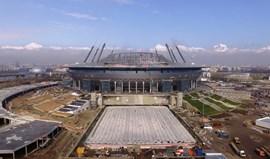 Rússia: Atraso nas obras do novo estádio do Zenit