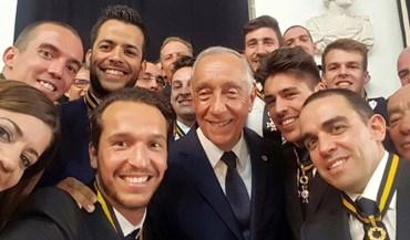 A selfie presidencial dos campeões da Europa de hóquei em patins