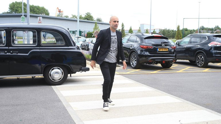 Aí está o primeiro dia de Pep Guardiola no Manchester City