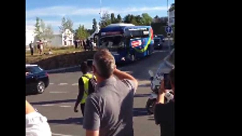 Assim foi a chegada do autocarro da Seleção ao Parc Olympique Lyonnais