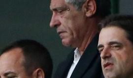 Fernando Santos na tribuna