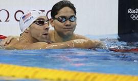 Michael Phelps nas meias-finais dos 100 mariposa