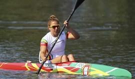 Teresa Portela em terceiro na final B de K1 500