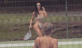 Estará Kim Kardashian a treinar para o US Open?