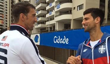 Quando duas lendas se encontram na Aldeia Olímpica