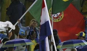 A alegria de Telma Monteiro no adeus aos Jogos Olímpicos