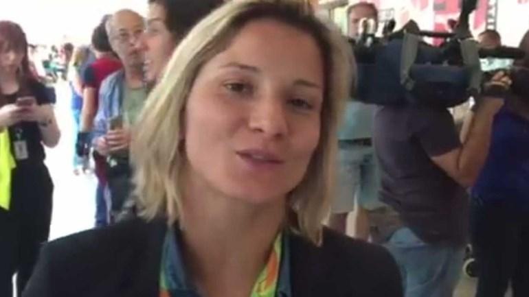 Telma Monteiro agradece apoio dos portugueses à chegada a Lisboa
