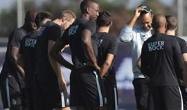 Preparação prossegue sem Maxi Pereira e João Costa