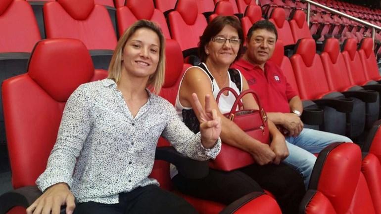 Telma Monteiro na Luz para ver Benfica-Sp. Braga