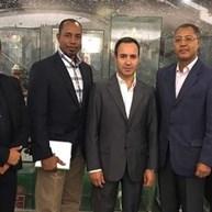 Presidente da Federação de Cabo Verde com Salvador e Júlio Mendes