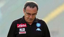 Sarri diz que Nápoles pagou fatura do jogo com o Benfica