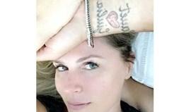Susana Werner mostra tatuagem de Júlio César