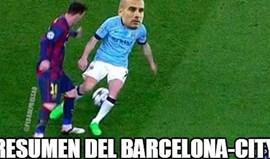 Assim foi o Barcelona-Man. City na Internet...