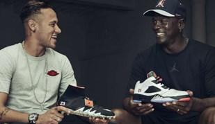 Neymar e Michael Jordan juntos em torno de um projeto