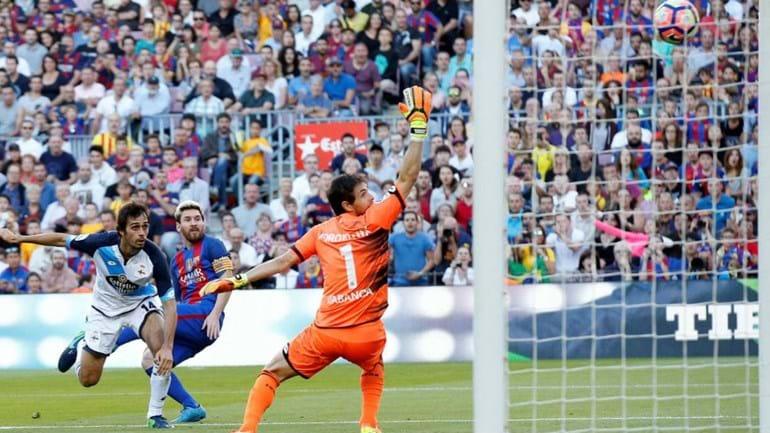 Leo Messi bate recorde de Zarra