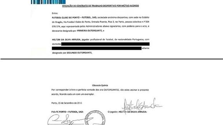 Dragões garantem que Helton rescindiu a 15 de setembro