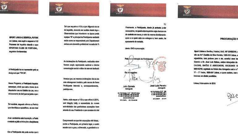 Leia a carta do Benfica à FPF a pedir inquérito aos 'vouchers'