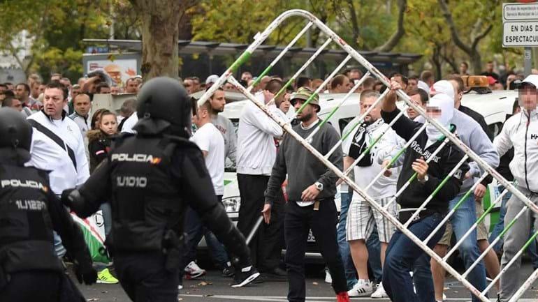Polícia espanhola detém 13 adeptos do Legia de Varsóvia