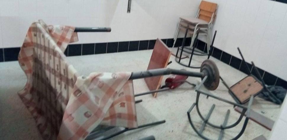 Assim ficou o café alegadamente atacado por adeptos do Boavista