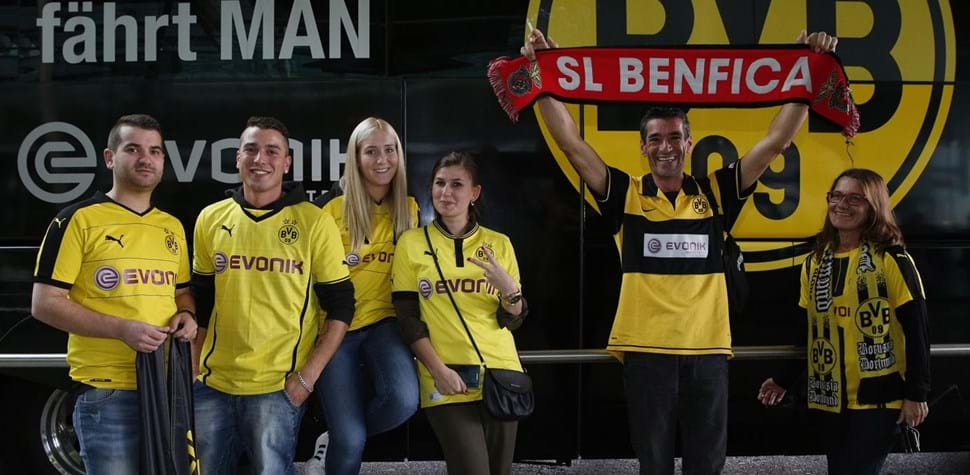 Adepto do Dortmund já provoca sportinguistas