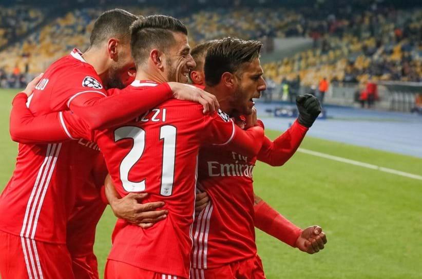 Assim comemorou o Benfica o golo de Salvio