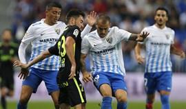 Málaga vence após estar duas vezes em desvantagem
