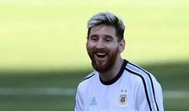 Treino de Messi dura apenas 10 minutos