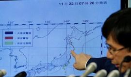 Alerta de tsunami levantado no Japão após sismo de magnitude 6,9