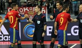 Eduardo Coelho e Miguel Castilho em ação na UEFA Futsal Cup