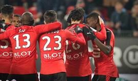 Rennes sobe ao quarto lugar