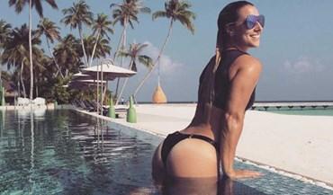 Esta tenista do top 5 WTA está a arrasar nas Maldivas