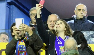 Antes do descalabro... houve tempo para umas 'selfies' com Pinto da Costa