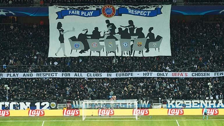 Adeptos do Copenhaga deixaram recado à UEFA