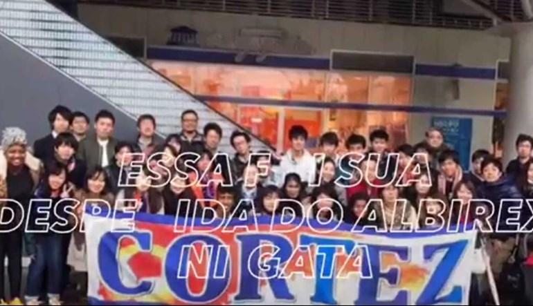 Lembra-se de Cortez? No Japão atéchoram no seu adeus