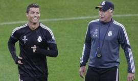 Ancelotti prevê Ronaldo a nível alto por mais três ou quatro anos
