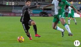Os casos do V. Setúbal-Sporting: Penálti por marcar em decisão difícil