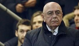 Presidente do Milan defende que atraso do avião causa sério prejuízo desportivo
