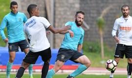 Empate com o U. Madeira em jogo treino