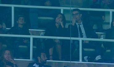 Ronaldo no Bernabéu com a namorada, a mãe e o filho