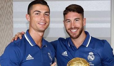 Sergio Ramos oferece a Ronaldo uma outra Bola de Ouro