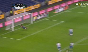 Casillas bem se esticou mas não conseguiu parar o tiro de Djoussé