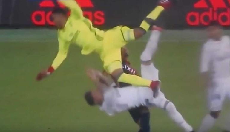 Navas ia 'partindo' Sergio Ramos ao meio...