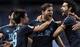 Real Sociedad vence em Málaga e sobe ao quinto lugar
