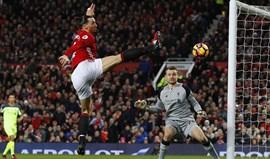 A baliza assusta o Manchester United
