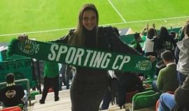 Margarida Neuparth sempre a apoiar Sportinge Adrien
