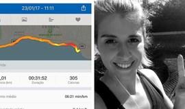 Noiva de Pizzi mostra dedicação ao exercício físico