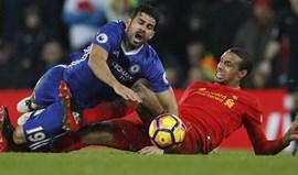 Liverpool e Chelsea empatam (1-1) em Anfield