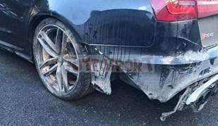 Valentino Rossi deixou o seu Audi RS6 neste estado