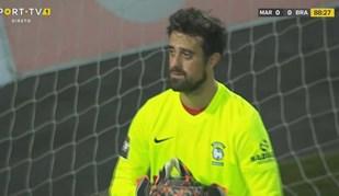 Marítimo jogou os últimos minutos com guarda-redes improvisado