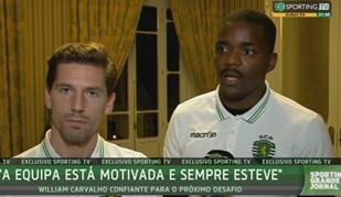 Adrien e William deixaram mensagem aos adeptos do Sporting